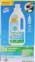 Nature Clean Natural 3 X Laundry Liquids 3 L / 101.fl.oz (129 Standard Loads)