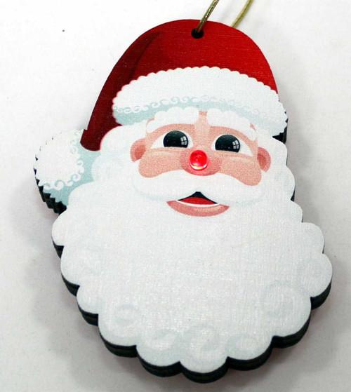 LED Santa Ornament