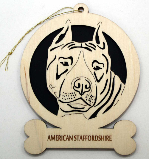 American Stafforshire Dog Ornament