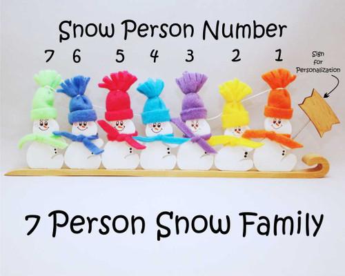 7 Person Snow Family