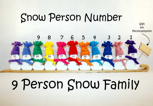 9 Person Snow Family