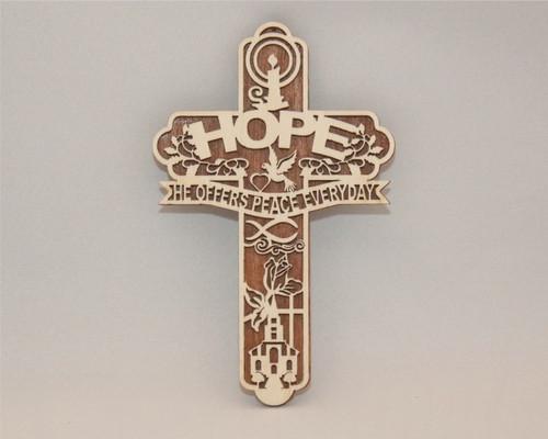 "HOPE ""He Offers Peace Everyday"" Cross"