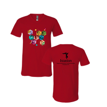 Red Character V-Neck T-Shirt