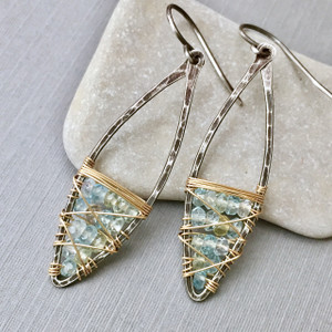 Aquamarine Dream Ter Marquise Earrings