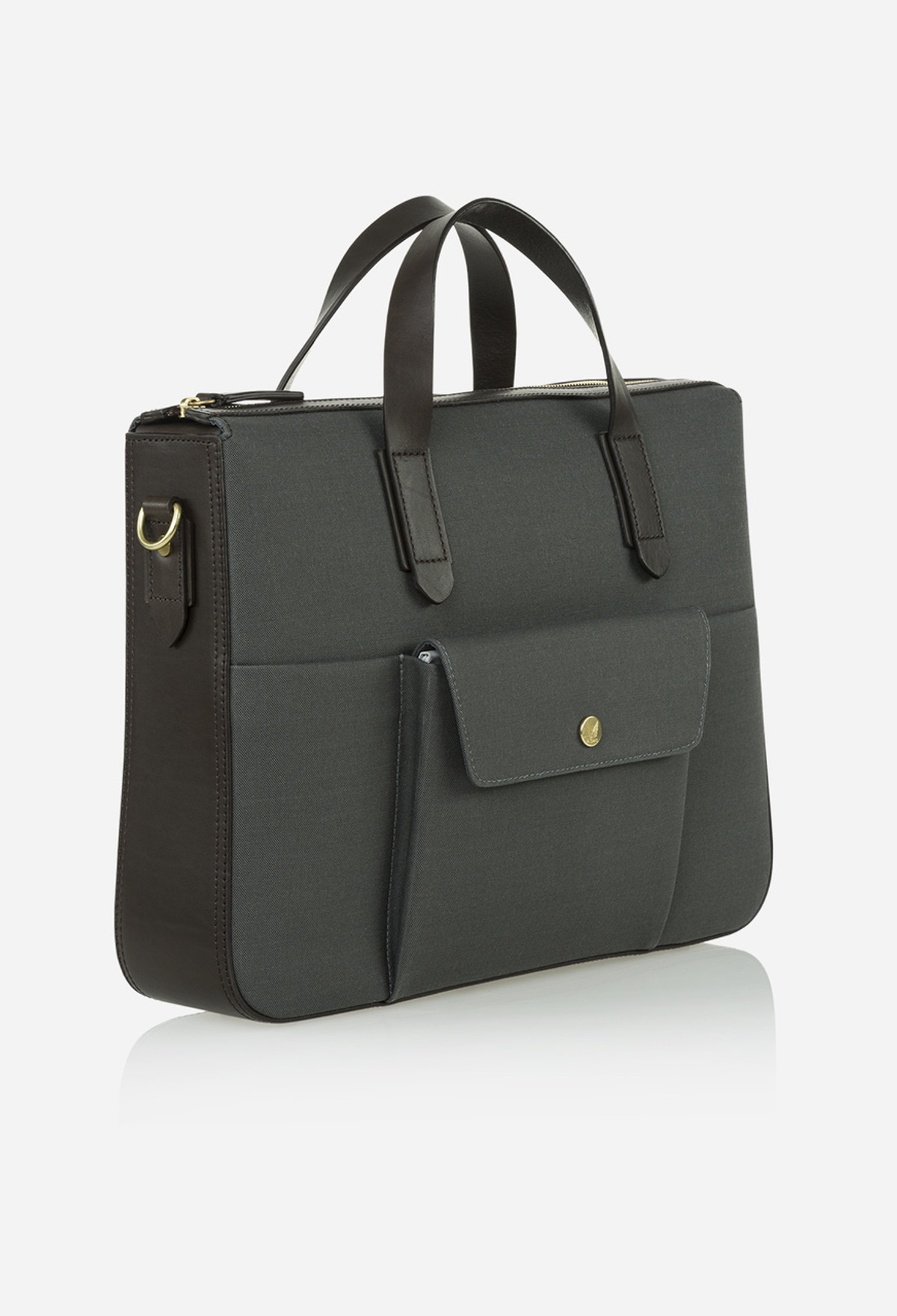 Steel Grey Briefcase