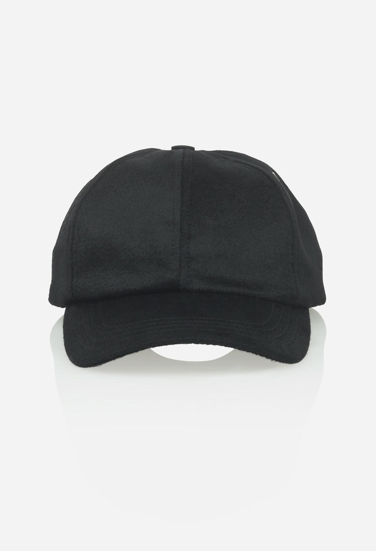 Black Cashmere Baseball Cap
