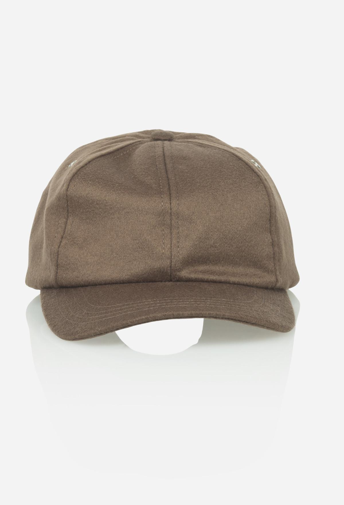 Camel Cashmere Baseball Cap
