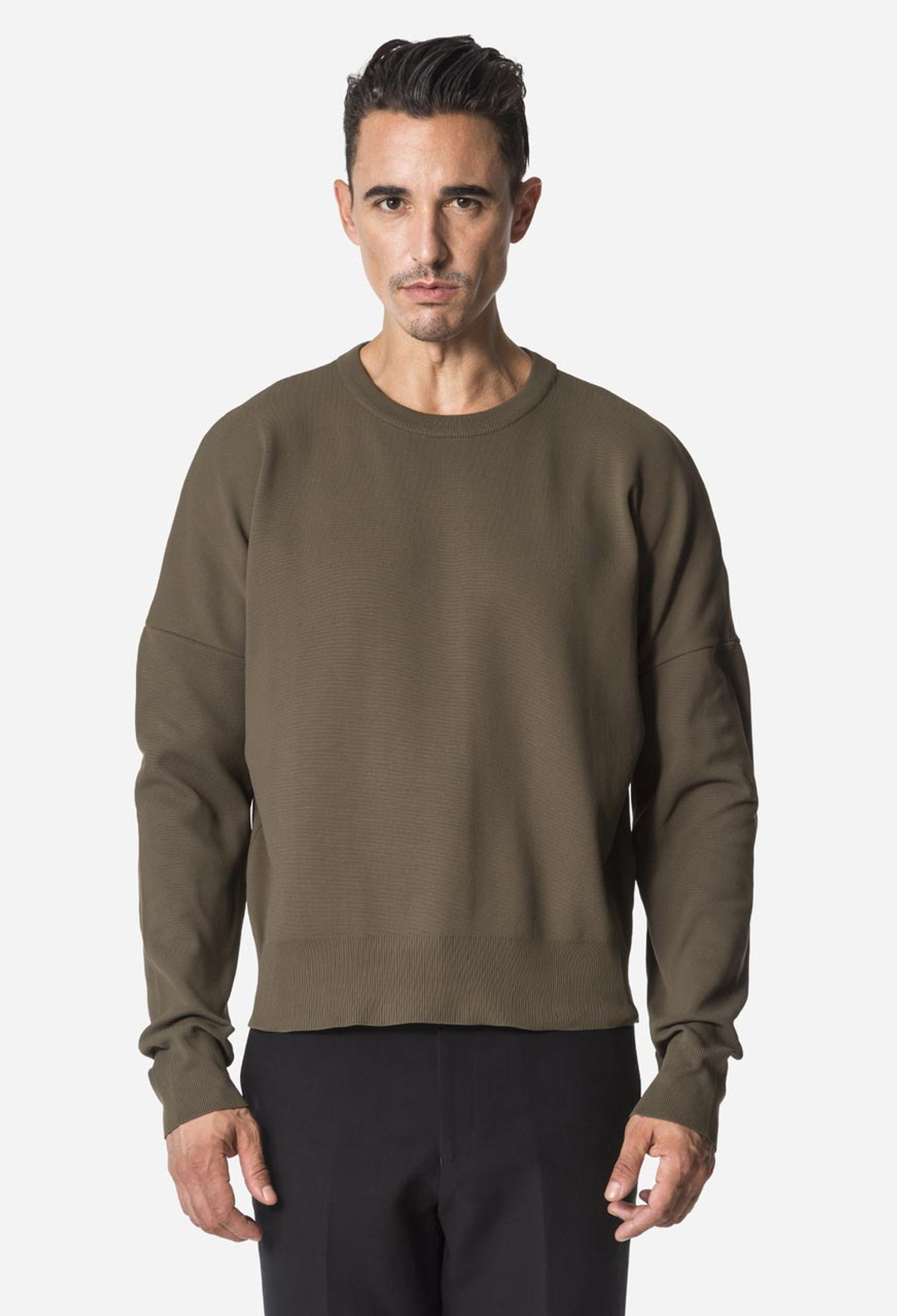 Green Drop Shoulder Crewneck