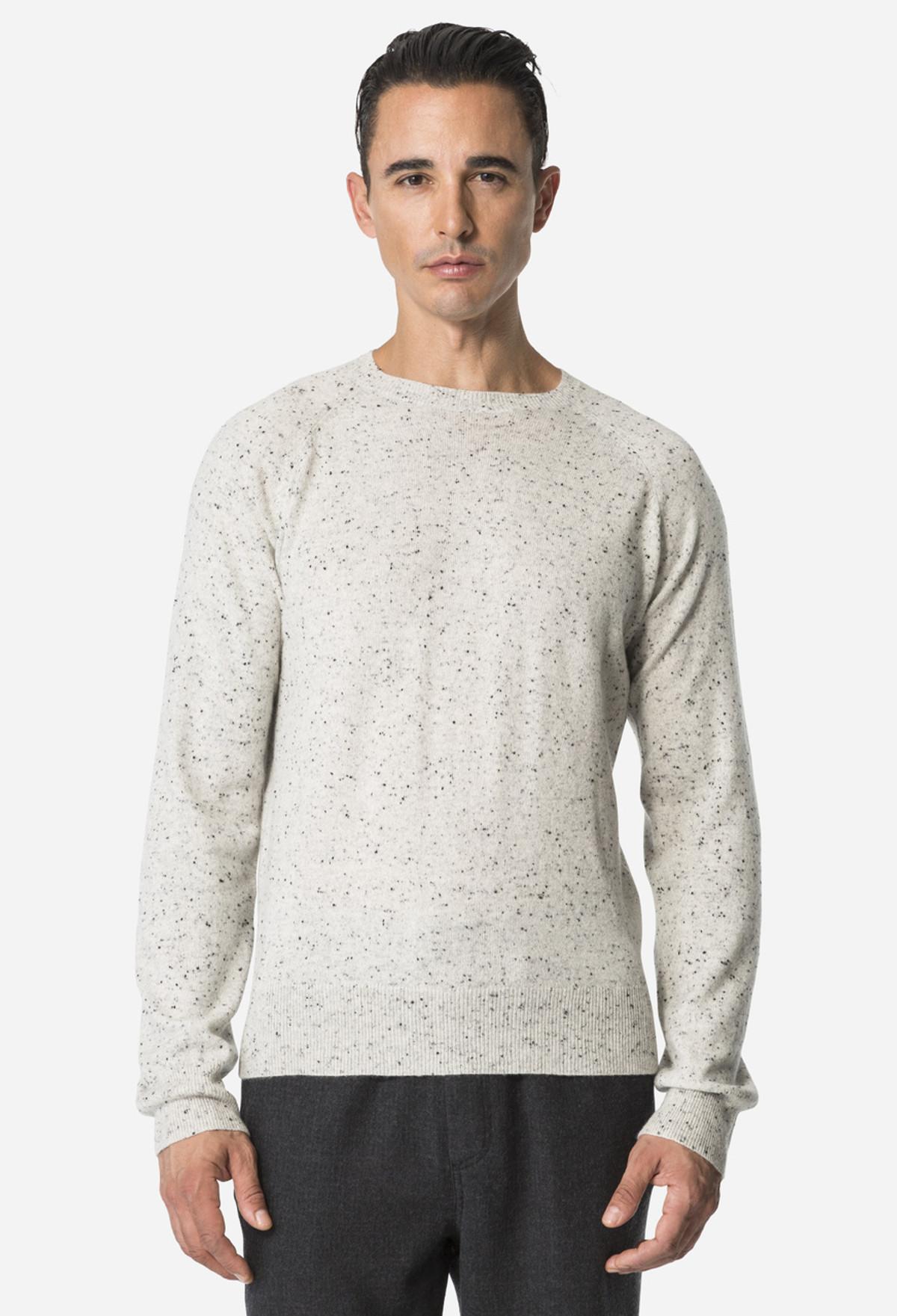 Light Heather Raglan Crewneck Sweater