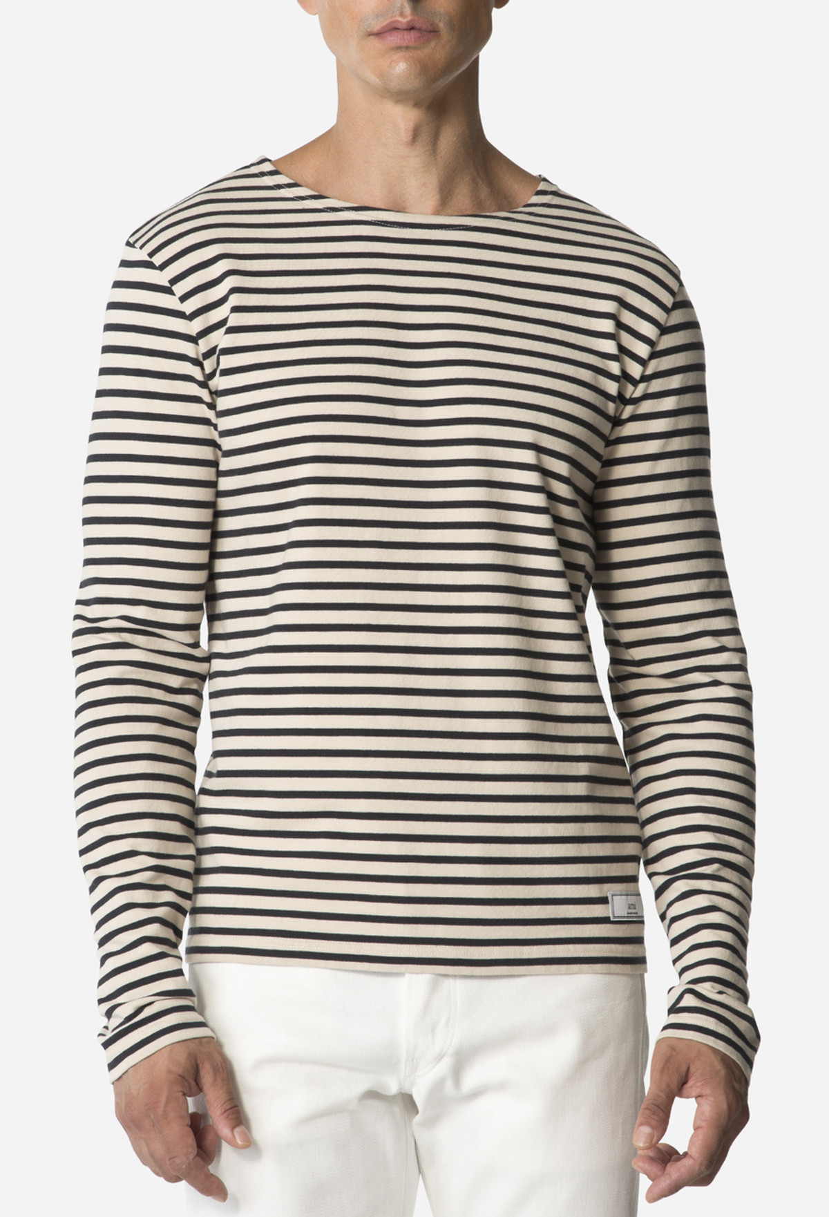 Navy/Tan Stripe T-Shirt