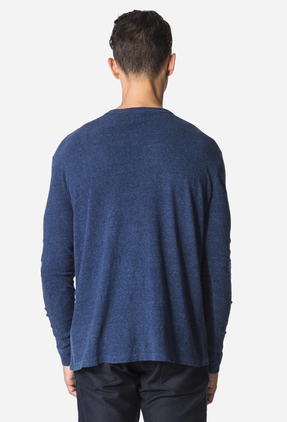 Indigo LS Crew Neck T-Shirt