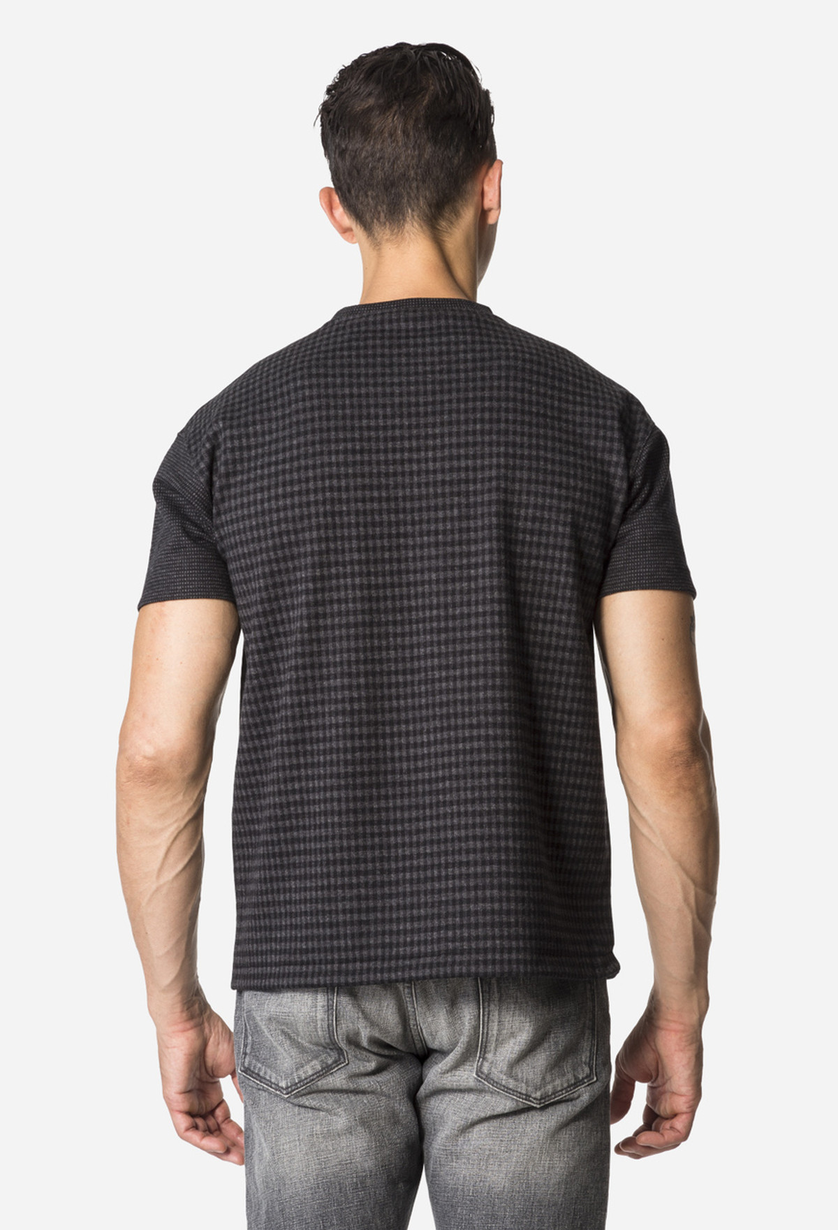 Black Checked T-Shirt