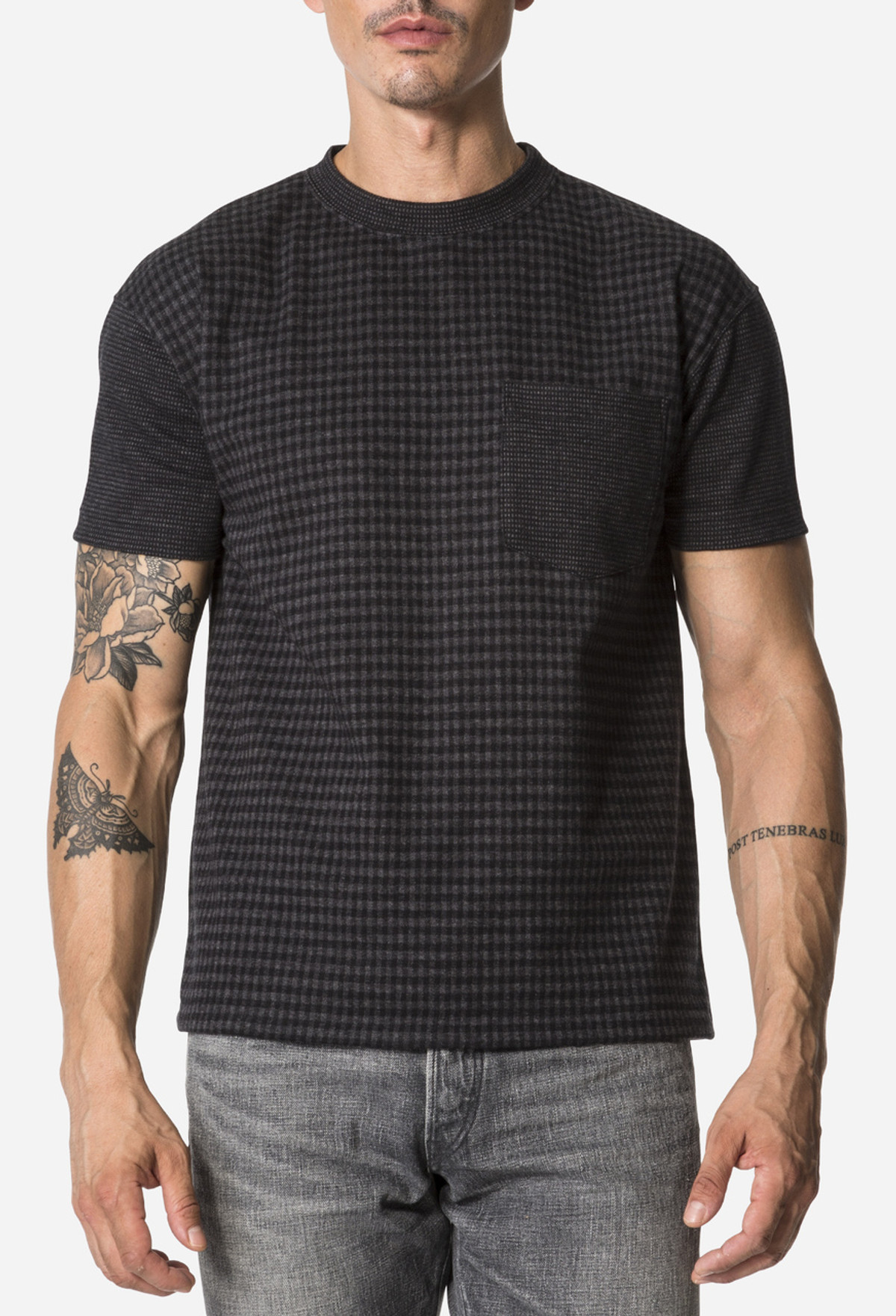 Black Checked T-Shirt