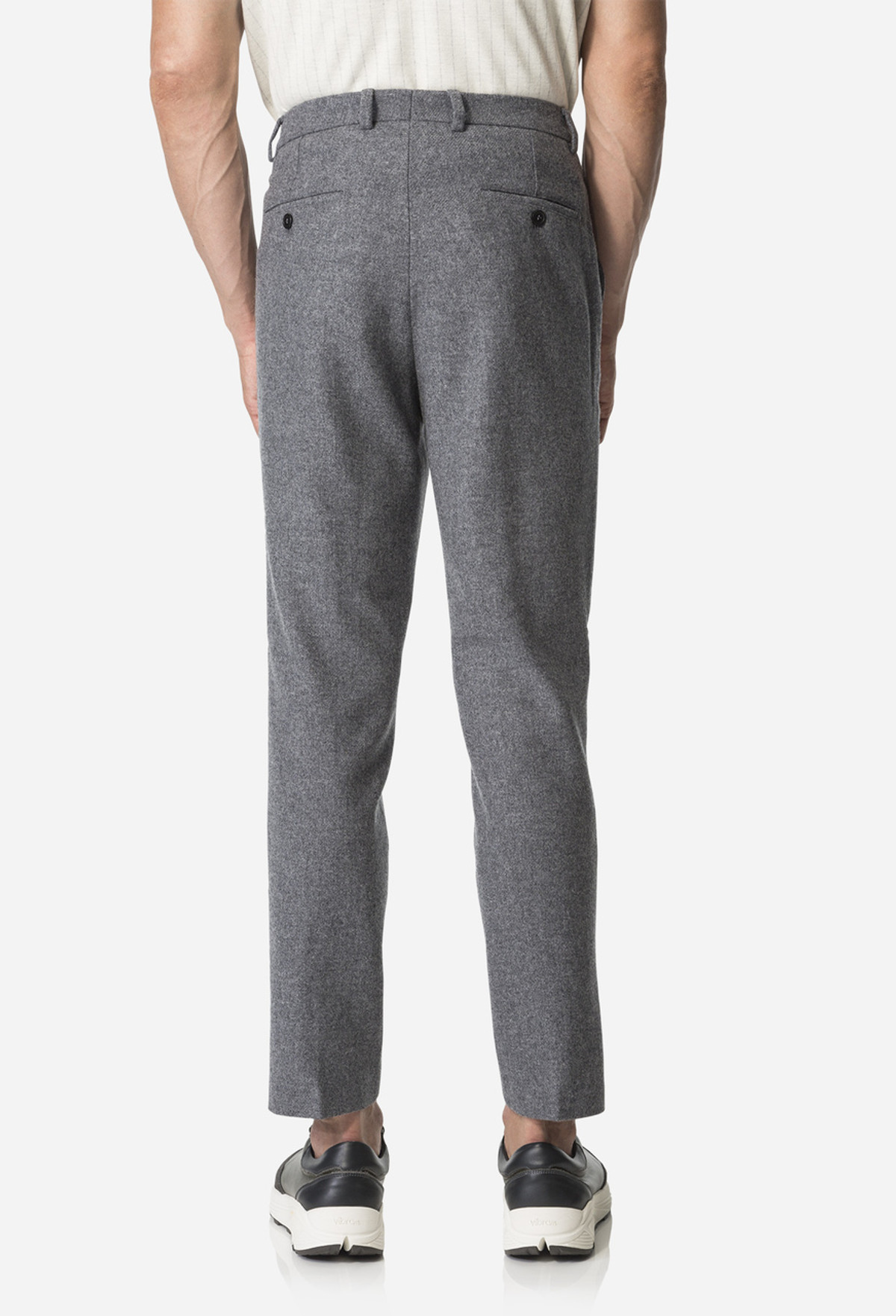 Grey Carrott Shaped Trouser
