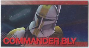 Star Wars Clone Wars Widevision Foil Commander Bly # 16