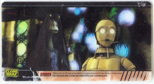 Star Wars Clone Wars Widevision Cell Threepio Jar Jar