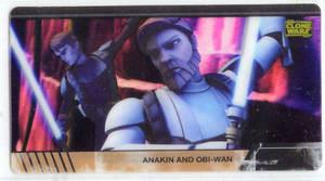 Star Wars Clone Wars Widevision Cell Anakin Obi-Wan