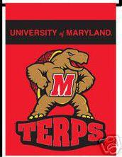Maryland Terps 13 X 18 Garden Flag / banner