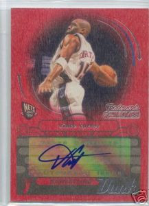 Vince Carter Trademark Moves Red Wood Auto # 2 / 3