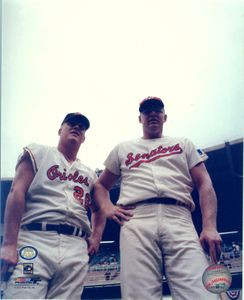 Boog Powell and Frank Howard Auto 11x14 Phto