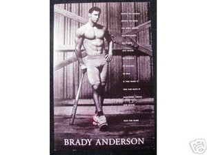 Orioles Brady Anderson Muscle Poster