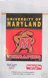 Maryland Terps vertical  27 x 37 Flag Banner