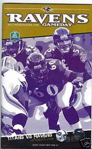 Joe Flacco Ravens Titans Game Day Program