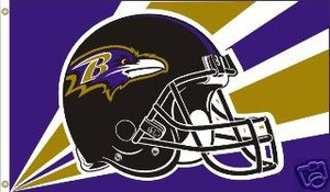 BALTIMORE RAVENS Deluxe Flag 3 X 5
