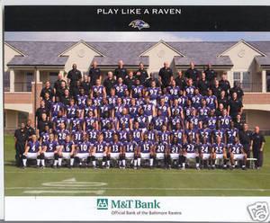 Baltimore Ravens 2009 M & T Bank team photo