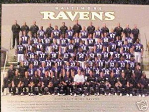 Baltimore RAVENS 2007 Team Photo w/ coaches