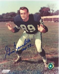 Baltimore Colts HOF Gino Marchetti Auto photo Signed