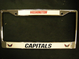 Washington Capitals Metal License Frame