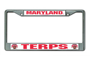 Maryland Terrapins Metal License Frame