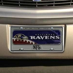 Baltimore Ravens Metal License Plate