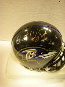 Anthony Wright Auto Ravens Mini Helmet