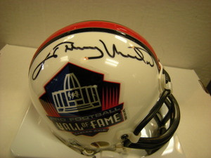Johnny Unitas Auto Hall of Fame Mini Helmet