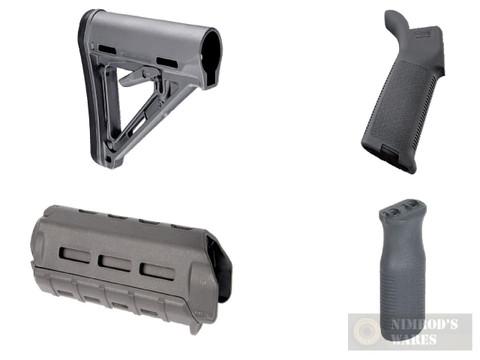 MAGPUL AR M-LOK MOE KIT Commercial-Spec GRAY Stock / Hand Guard / Pistol Grip / Vertical Grip