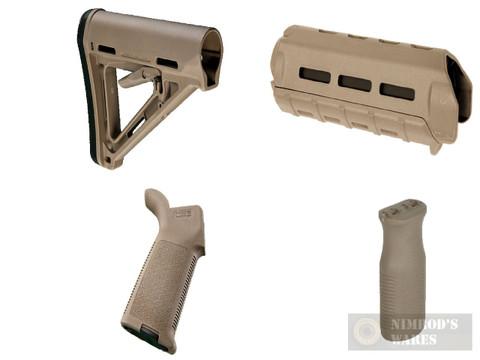 MAGPUL AR M-LOK MOE KIT Commercial-Spec FDE Stock / Hand Guard / Pistol Grip / Vertical Grip