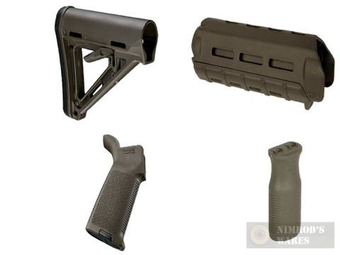MAGPUL AR M-LOK MOE KIT Commercial-Spec ODG Stock / Hand Guard / Pistol Grip / Vertical Grip