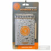 """UST Survival Emergency Waterproof Notepad + Pencil 4"""" x 6"""" 20-310-118"""