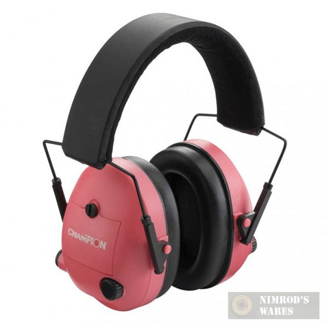CHAMPION Shooter's Electronic Ear Muffs 25db PINK 40975