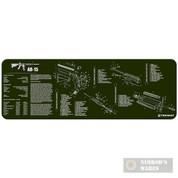 TekMat Gunsmithing Bench MAT 12x36 w/ .223 Rifle Diagram 36AR15OD