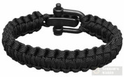 Survival Bracelet Light Duty LARGE Black 201106846