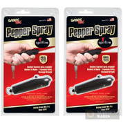 2-Pack SABRE SPITFIRE Keychain SELF-DEFENSE Pepper Spray BLK SF-01-BK-US
