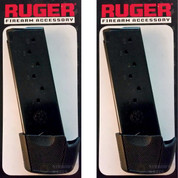 RUGER 90404 LC9 LC9S 9mm 9-Round Magazine 2-PACK + Grip Extensions OEM