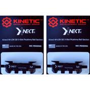 KINETIC Single 3 Slot QD / Quick Detach M-LOK Rail Section 2-PACK KIN5-100