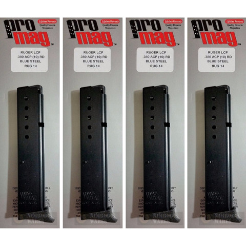 4-PACK ProMag Ruger LCP 380ACP 10 Round Magazines RUG14 RUG 14