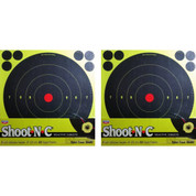 "Birchwood Casey Shoot-N-C 8"" Reactive Targets 10-Pack + 120 Pasters 34804"