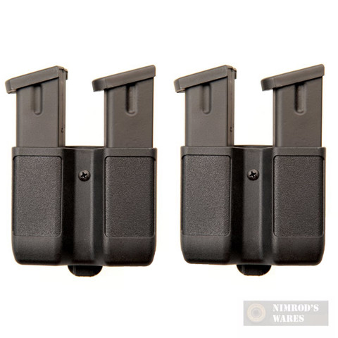 BLACKHAWK Double-Stack Magazine Case 2-PACK 9mm 40 45 10mm 357Sig 410610PBK