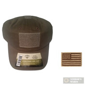 Tac Shield Government Contractor Cap ODG T27OD + US Flag PATCH Coyote 03802